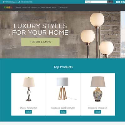 桌灯台灯吊灯LED行业外贸网站模